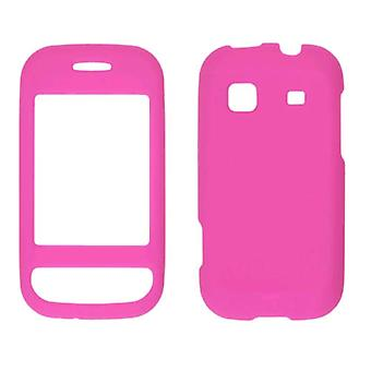 5 Pack-duas peças Soft Touch caso snap-on para Samsung TRENDER SPH-M380 (Hot Pink)