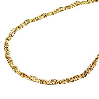 Catena 45 centimetri 1, 4mm Singapore catena oro 9Kt