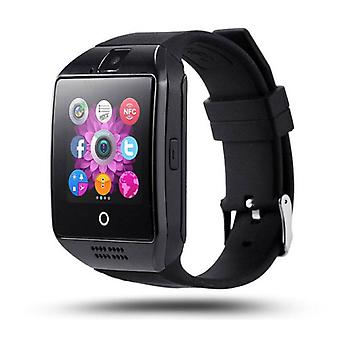 Stuff Certified® Original Q18 Smartwatch Curved HD Smartphone Fitness Sport Activity Tracker Watch OLED iOS Android iPhone Samsung Huawei Black