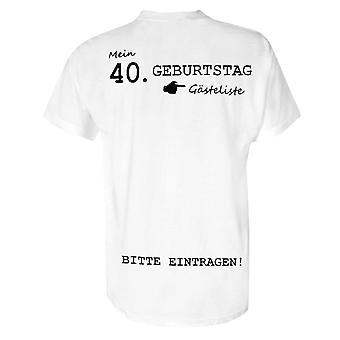 Il mio 40 ° compleanno di t-shirt