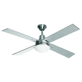 Ceiling fan Airfusion Quest II Chrome with light
