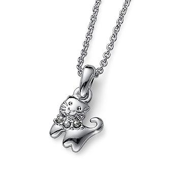 Oliver Weber Pendant Kitty Rhodium, Bl.Diamond