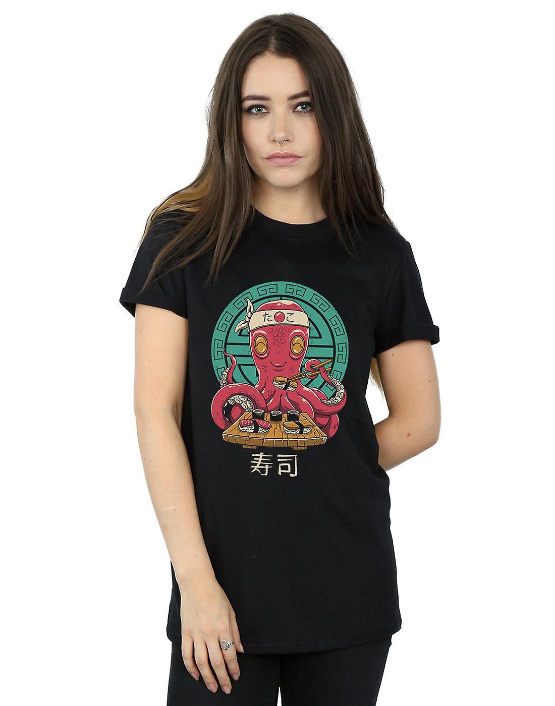Vincent Trinidad Women's Octo Sushi Boyfriend Fit T-Shirt