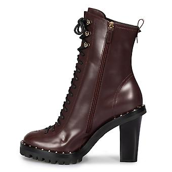 Valentino Soul Rockstud Boots in Burgundy