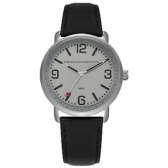 FCUK French Connection Mens Gents pols horloge zwart riem FC1312B