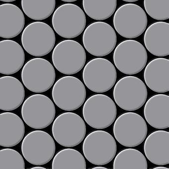 Kovová mozaika z nerezavějící oceli slitina S-S-MA