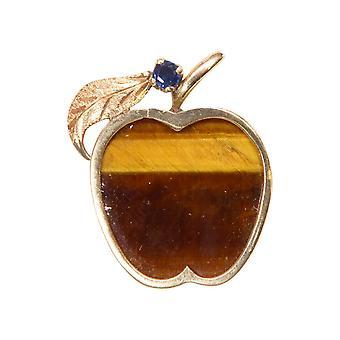 Pingente de maçã dourada