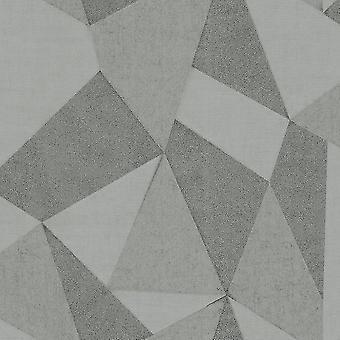 Fractal geométrico elegante Milano macio cinza de prata, papel de parede 10.05x0.53M