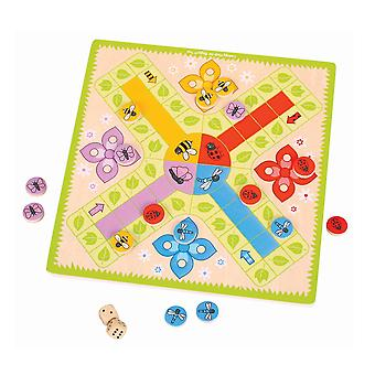 Bigjigs Toys Children's Wooden Ludo Traditional Family Board Game