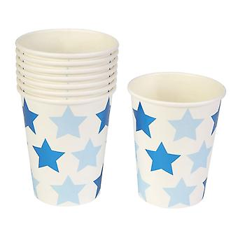 Beetje Star Blue - Paper Cup - 8 Pack