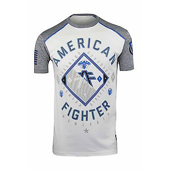 American Fighter Mens Gardner tricou-alb/Heather Gray