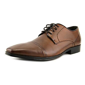 Unlisted by Kenneth Cole Mens Lesson Plan Leather Lace Up Dress Oxfords