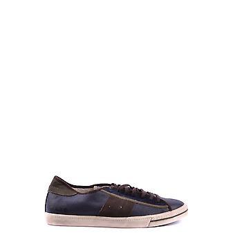 D.a.t.e. Ezbc177018 Men's Blue Leather Sneakers