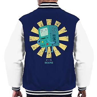 Beemo Retro Japanese Adventure Time Men's Varsity Jacket
