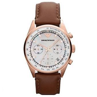Emporio Armani Ar5996 Classic Brown Leather Orologio da donna Chrono