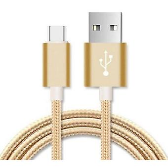 Micro USB Data Sync Charger Cable Cord - Gold