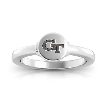 Georgia Institute Of Technology Engraved Sterling Silver Signet Ring