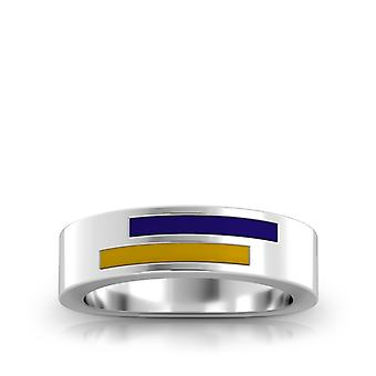 San Francisco State University Sterling Silber asymmetrische Emaille Ring in lila und gelb