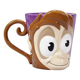 Tasse Disney Aladdin Abou violet/brun, 100 % céramique, douille÷v. 500 ml., boîte cadeau.