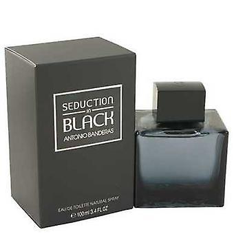 Seduction In Black Par Antonio Banderas Eau De Toilette Spray 3.4 Oz (hommes) V728-482707