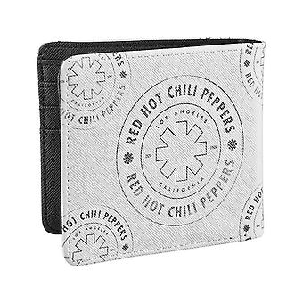 Red Hot Chili Peppers Wallet Asterisk Outline Band Logo Official white Bifold