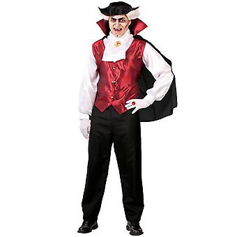 Mens Gothic Vampire fancy dress kostuum