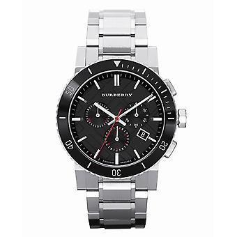 バーバリー Bu9380 ブラック ダイヤル クロノグラフ ステンレス スチール メン's 腕時計