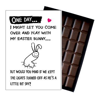 Easter Funny Flat Egg Gift For Wife Girlfriend Boxed Chocolate Greeting Card Present for Her OD114