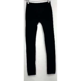 Slim 'N Lift Leggings Animal Print Pull On Stretchy Black  S420345