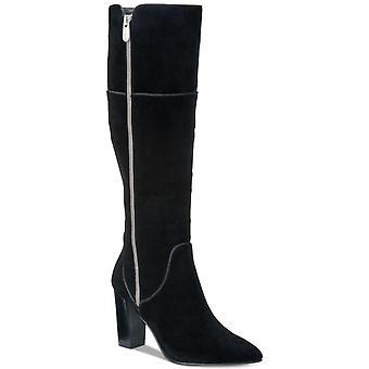 Adrienne Vittadini Kadın Neeva Deri Sivri Ayak Diz Yüksek Moda Boots