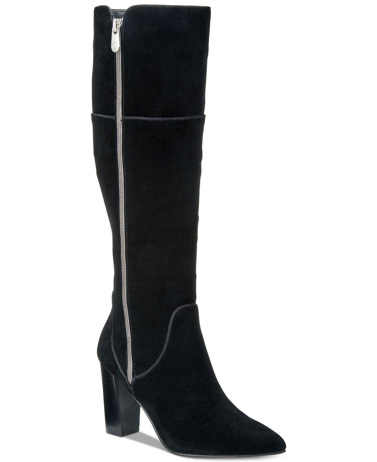 Adrienne Vittadini Kobiety Neeva Skóra Wskazał Toe Knee High Fashion Buty wt475