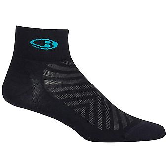 Icebreaker Black Womens Run+ Mini Sock