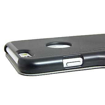2 in 1 フリップカバーシェルiPhone 6プラス磁気ロック+画面保護