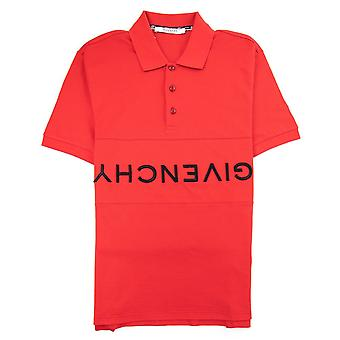 Logo inverso Givenchy Slim Fit Polo Rosso