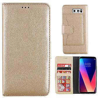 LG V30 القضية الذهب - محفظة القضية