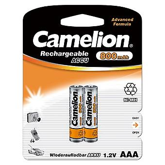 2x Camelion oplaadbare batterijen AAA NiMH 800mAh batterij