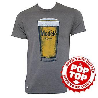 Modelo pint Glass Pop-pusero harmaa T-paita