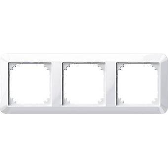 Merten 3x Frame 1-M, System M Polar white glossy 389319