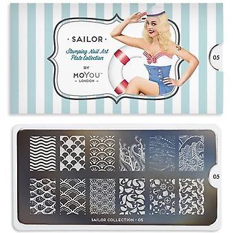 Moyou London Nail Art Image Plate - Sailor 05 (MPSAI05)