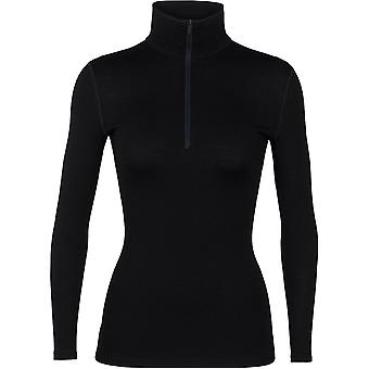 Icebreaker Women's 260 Tech LS Half Zip - Black