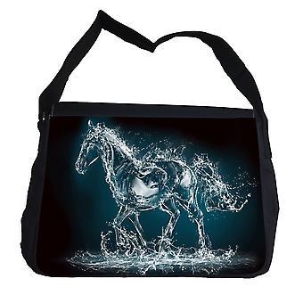 Wasserpferd mit Schultergurt-Messenger Bag