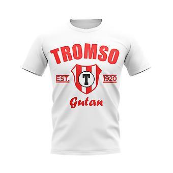 Tromsø etablerte fotball T-skjorte (hvit)