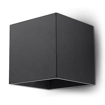 Sollux QUAD 1 Light Up Down Wall Light Black SL.0057