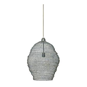 Light & Living Nordic Wire Mesh Hanging Pendant Lamp Pendant. 45x60Cm. Nikki Wire Green Gold