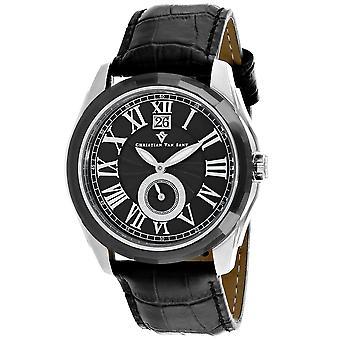 Christian Van Sant Men's Gravity Black Dial Uhr - CV3101