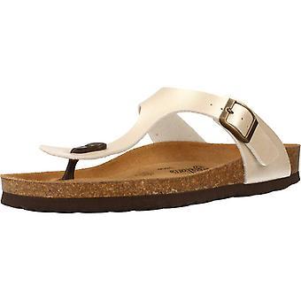 Gele winkel sandalen Arosas kleur parel