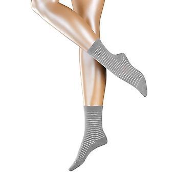 Esprit-Läpinäkyvainen raita sukat-vaaleanharmaa