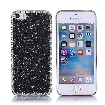 Iphone Se Case / 5s / 5 Black and White Strass - Crazy Kase
