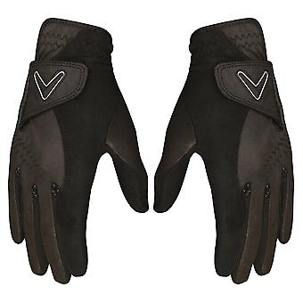 Callaway Golf Womens Opti Grip Breathable Moisture Wicking Gloves- Pair