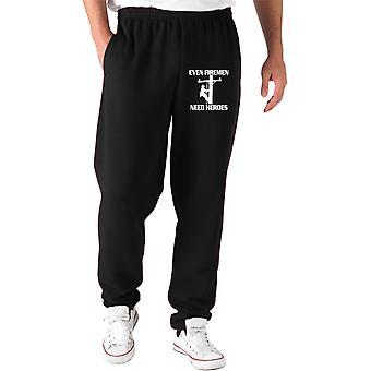 Black tracksuit pants fun1435 firemen need heros
